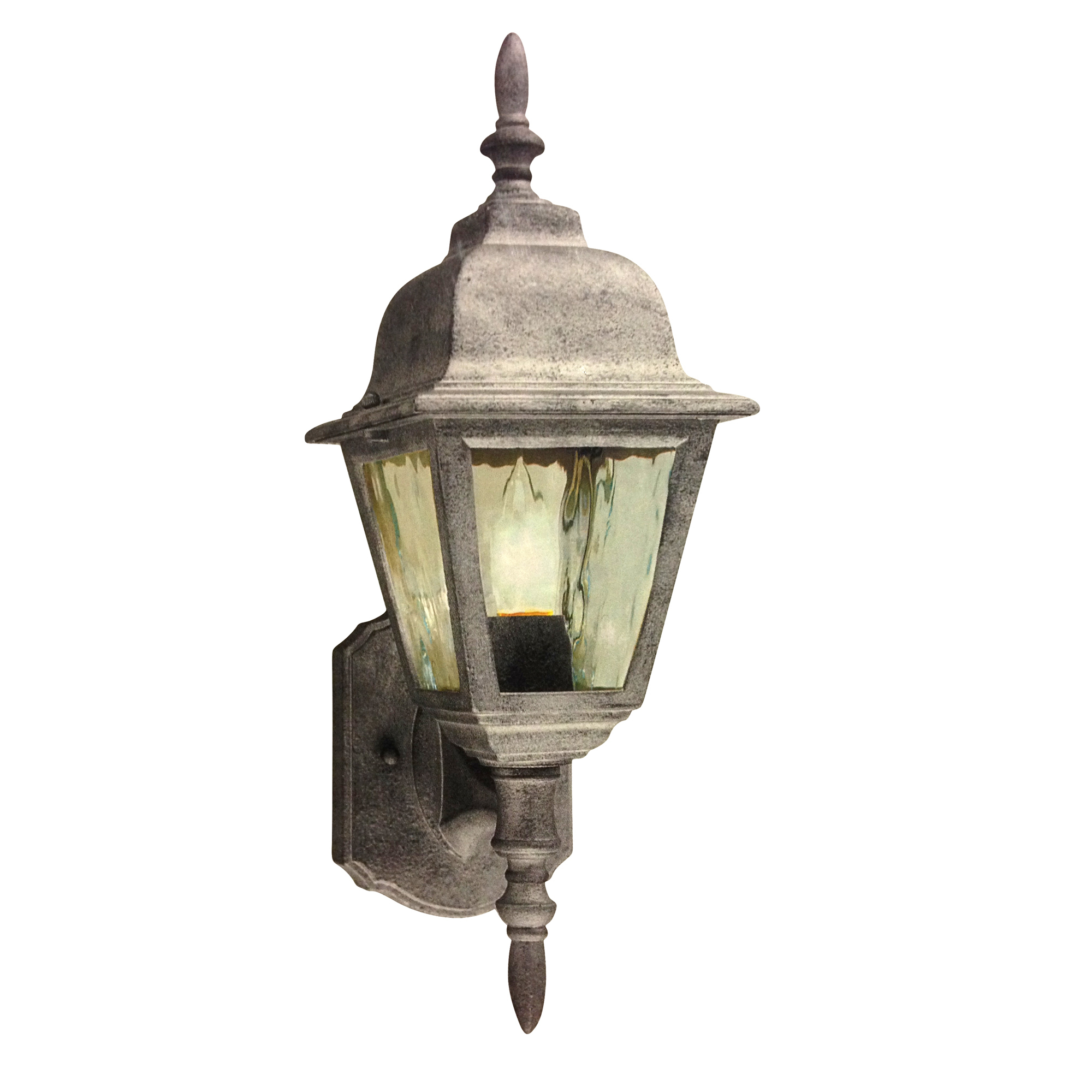 Thomas Lighting 1 Light Wall Mount Sconce M-5310-90 Outdoor Fixture Glass Weathered Silver Finish by Philips Group