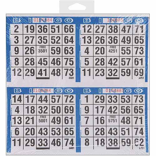 """Dab'n Stic Bingo Game Sheets, 8"""" x 8"""", 125/pkg"""