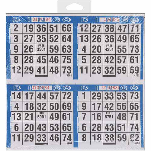"Dab'n Stic Bingo Game Sheets, 8"" x 8"", 125/pkg"