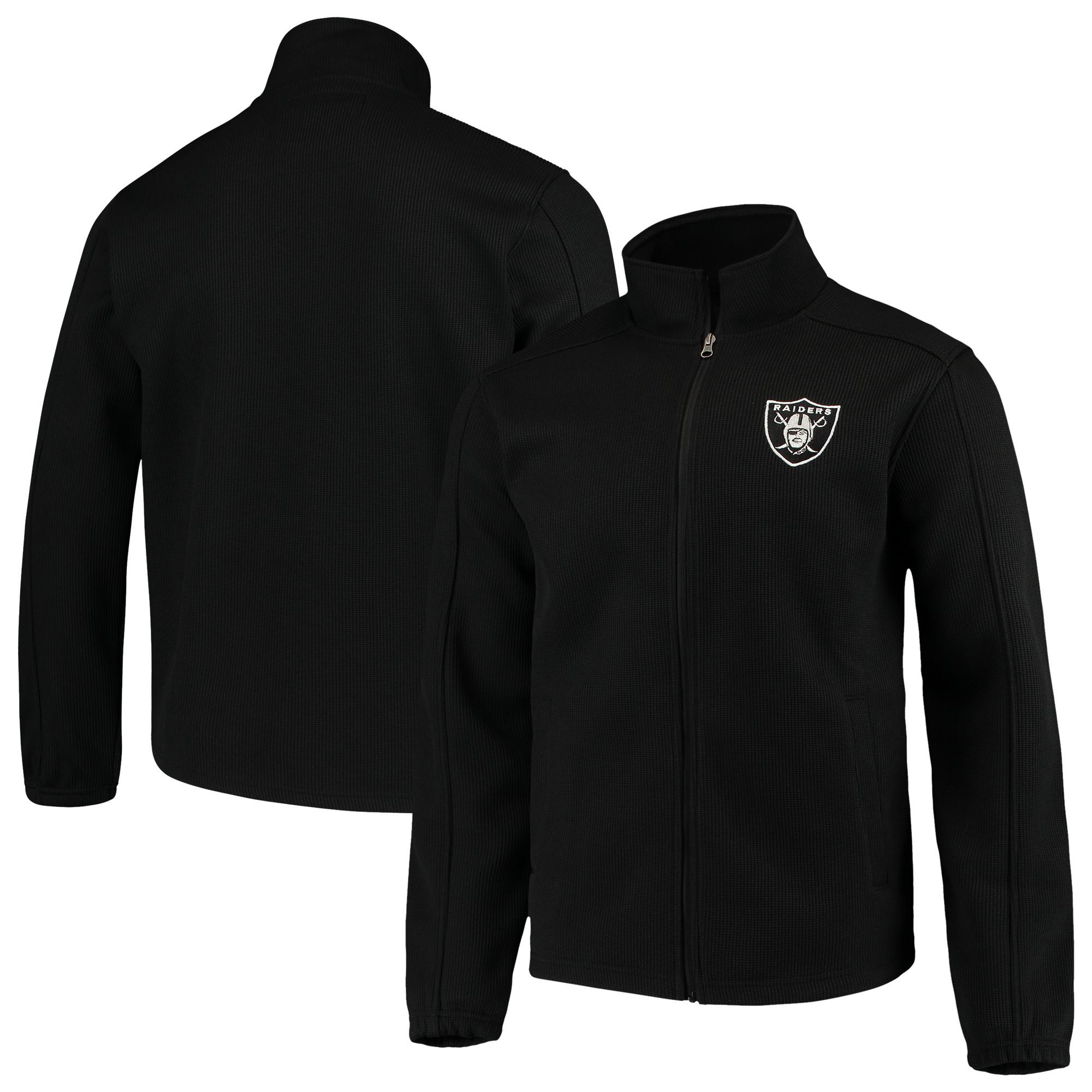 Oakland Raiders G-III Sports by Carl Banks QR Audible Full-Zip Fleece Jacket - Black