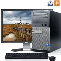 "Dell Optiplex Windows 10 Pro Desktop Computer Intel Core i5 3.1GHz Processor 8GB RAM 500GB HD Wifi with a 19"" LCD Monitor Keyboard and Mouse - Refurbished PC with a 1 Year Warranty"