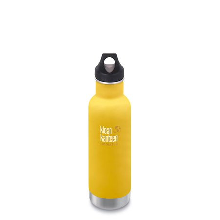 Klean Kanteen Insulated Classic 20 oz with Loop Cap Lemon Curry LC