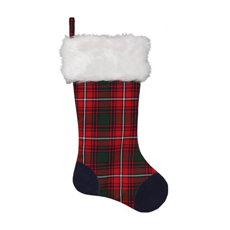 Dyno Plaid Christmas Stocking