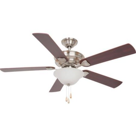 Seasons 52 Ceiling Fan With Up And Down Light Brushed