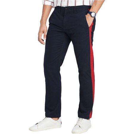 Tommy Hilfiger Mens Side Stripe Casual Chino Pants Knit Pant Casual Pants