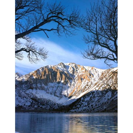 Mountain Laurel Soft Shell (Laurel Mountain reflected in Convict Lake eastern Sierra Nevada California Poster Print by Tim Fitzharris )