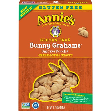 Annie's Gluten Free Snickerdoodle Bunny Cookies, 6.75 oz ()