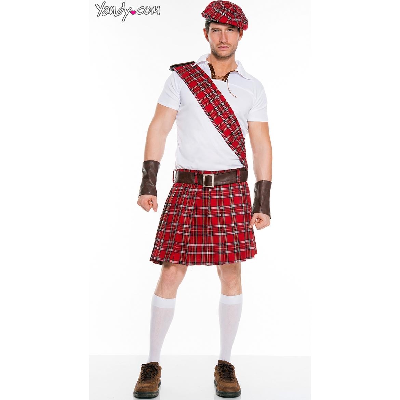 Music Legs Men's Traditional Scottish Man Costume