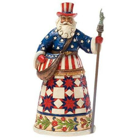 Heartwood Creek by Jim Shore American Santa Claus Stone Resin Figurine ()