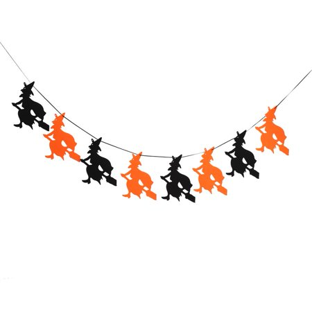 Anauto Happy Halloween Fabric String Banner Hanging Bunting Flag Garland Decor Party Ornaments(#2), String Banner, Hanging Flag