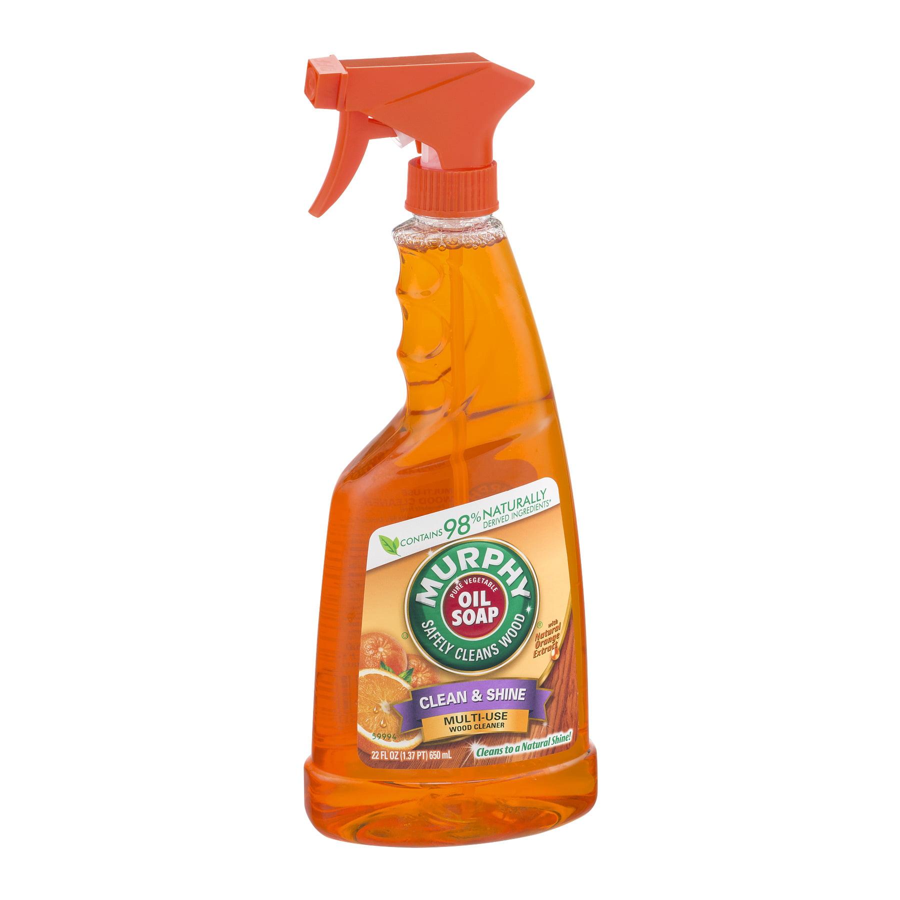 Murphy\'s Oil Soap Spray Wood Cleaner, Orange - 22 fl oz - Walmart.com