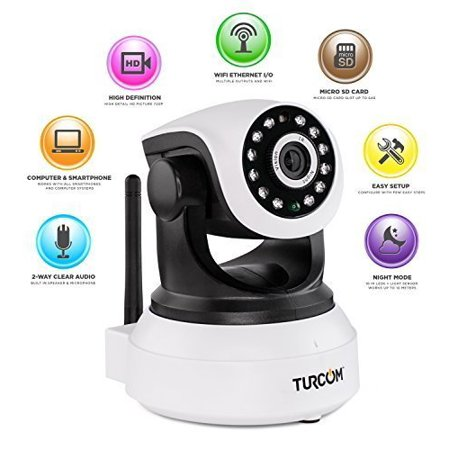 turcom ts 620 ip camera baby monitor night vision hd two way audio wifi wireless security. Black Bedroom Furniture Sets. Home Design Ideas