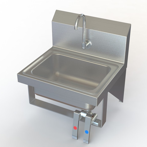 Aero Manufacturing NSF 17'' x 15'' Single Knee Operated Hand Sink with Faucet