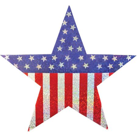 PRISMATIC HANGING STARS](Fourth Of July Party Decorations)