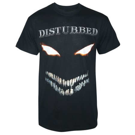 Disturbed Men's Scary Face Full Color T-Shirt - Black Full Face