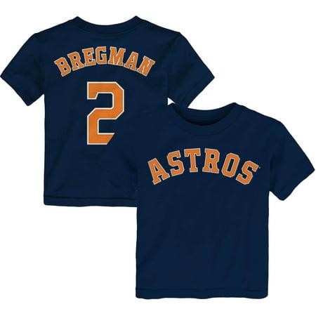 Alex Bregman Houston Astros Majestic Toddler Player Name & Number T-Shirt - Navy Alex Rodriguez Shirt