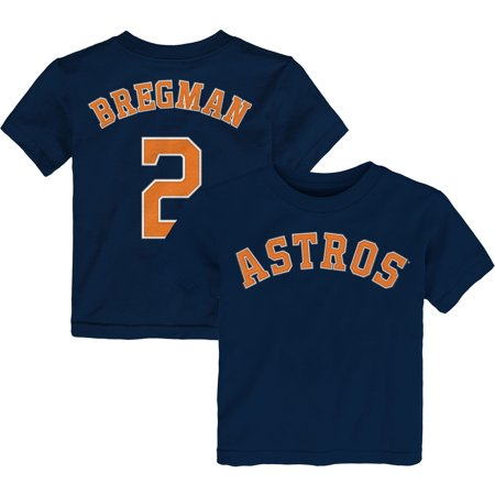 Player Name Tee (Alex Bregman Houston Astros Majestic Toddler Player Name & Number T-Shirt - Navy )