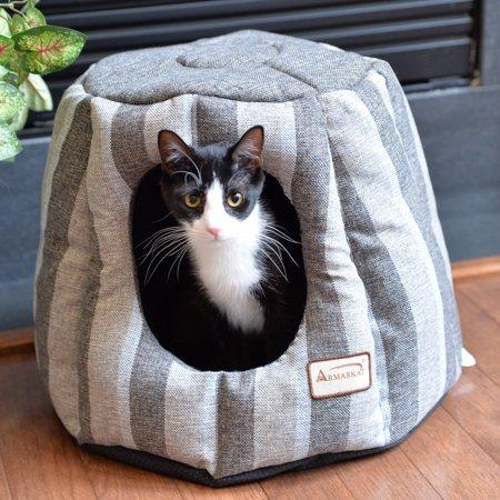 Armarkat Striped Nesting Pet Bed
