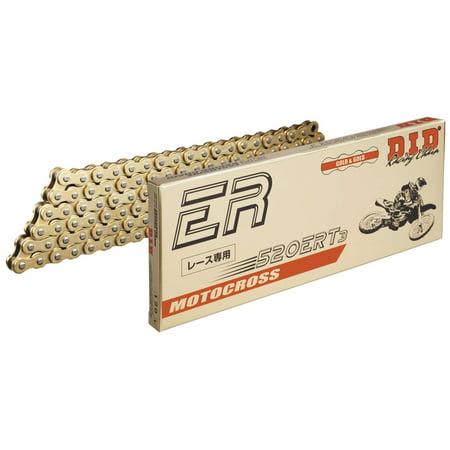 D.I.D 520ERT3G-130 520 ERT3 Series Exclusive Racing Chain - 130 Links - Gold