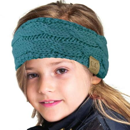 82a2e42fcabbf SK Hat Shop - CC Kids Fuzzy Lined Ages 2-7 Fleeced Headwrap Headband  Earwarmer Winter Knit - Walmart.com