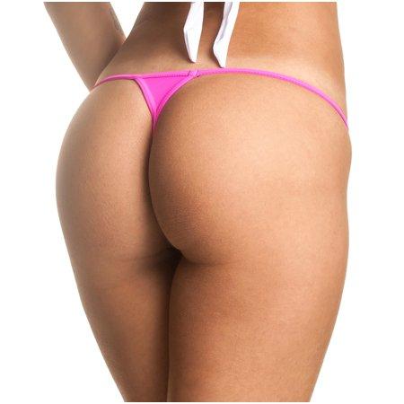f7ca08ec4b Coqueta Swimwear - COQUETA Brazilian Teeny Micro Thong Mini Bikini Swimsuit  G String HOT PINK-XLARGE - Walmart.com