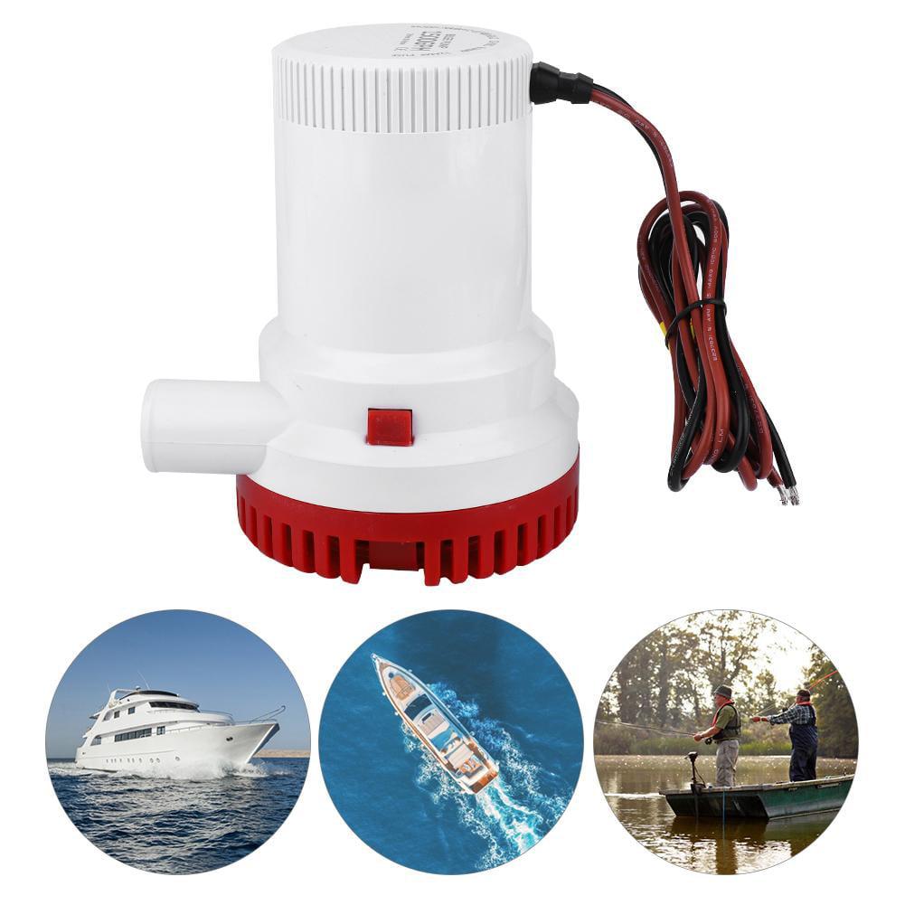 """12V automatische Tauchboot Bilge Wasserpumpe 1500GPH 1 1 8 /""""Outlet"""