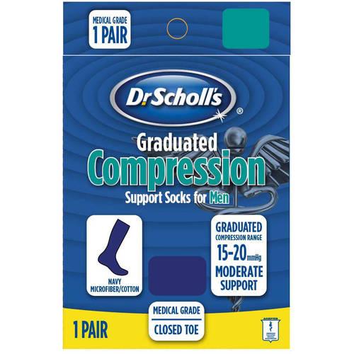 Dr. Scholl's Men's Microfiber Cotton Moderate Compression Socks - 1 Pack