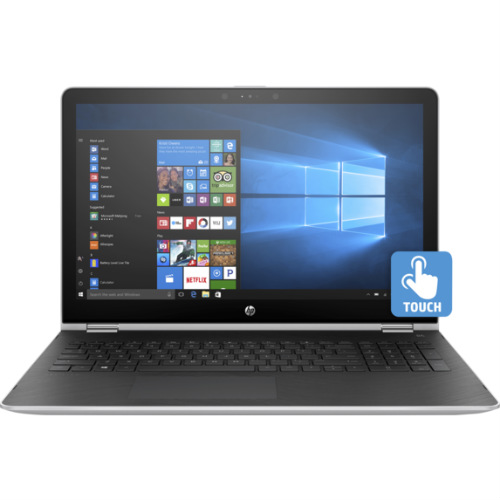 "HP 15-Br077Nr 15.6"" Laptop, Touchscreen, 2-in-1, Windows 10, Intel Core i5-7200U Processor, 8GB RAM, 256GB Solid State Drive"