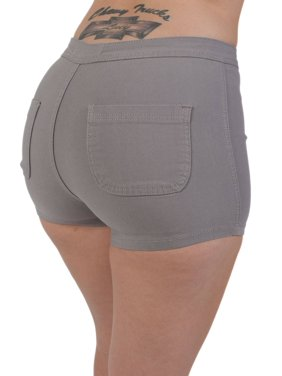 Black Womens Shorts - Walmart.com 44dfc1725