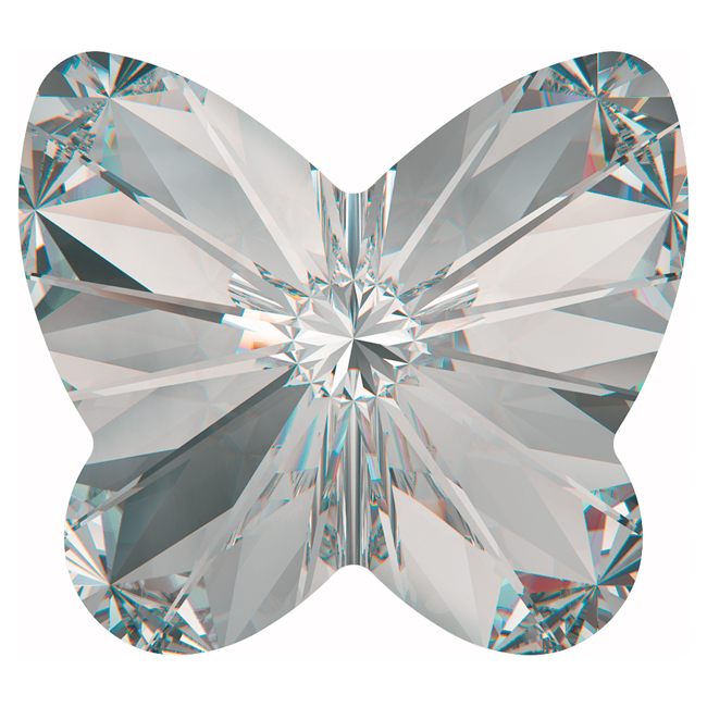 Swarovski Crystal, #4748 Rivoli Butterfly Rhinestones 10mm, 4 Pieces, Crystal F