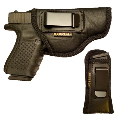 Combo ECO Leather Concealment Gun Holster + Magazine Holster IWB with Metal  Clip Fits Glock 19/23 / 32,Walters PK 380 / PPS/CCP, Ruger SR9 C,S&W M&P