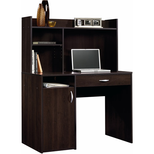 Sauder Beginnings Desk with Hutch Cinnamon Cherry Walmartcom