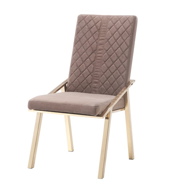 Benzara Fabric Upholstered Dining Chair With Metal Frame