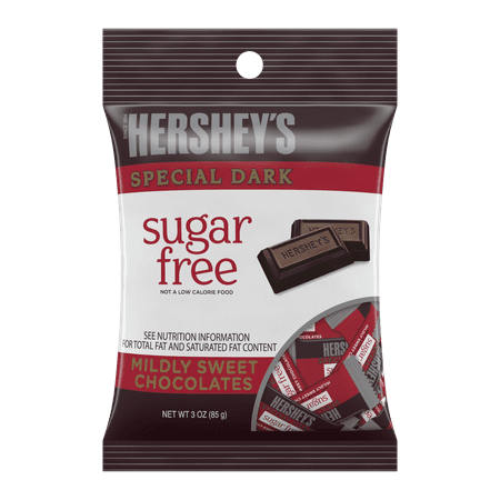 Hershey's, Sugar-Free Special Dark Mildly Sweet Chocolate Candy, 3 Oz. Dark White Chocolate Peppermint Bark