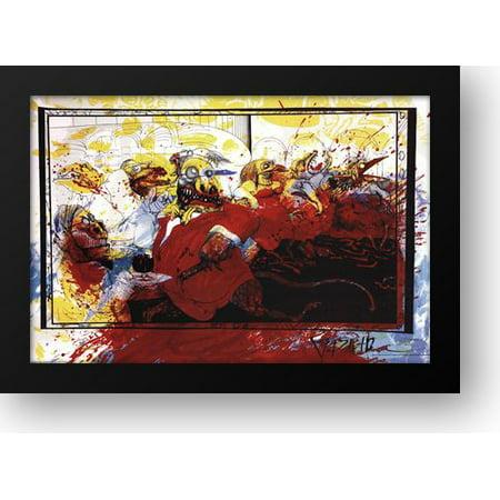 Lizard Point - FrameToWall - Lizard Lounge 40x28 Framed Art Print by Steadman, Ralph