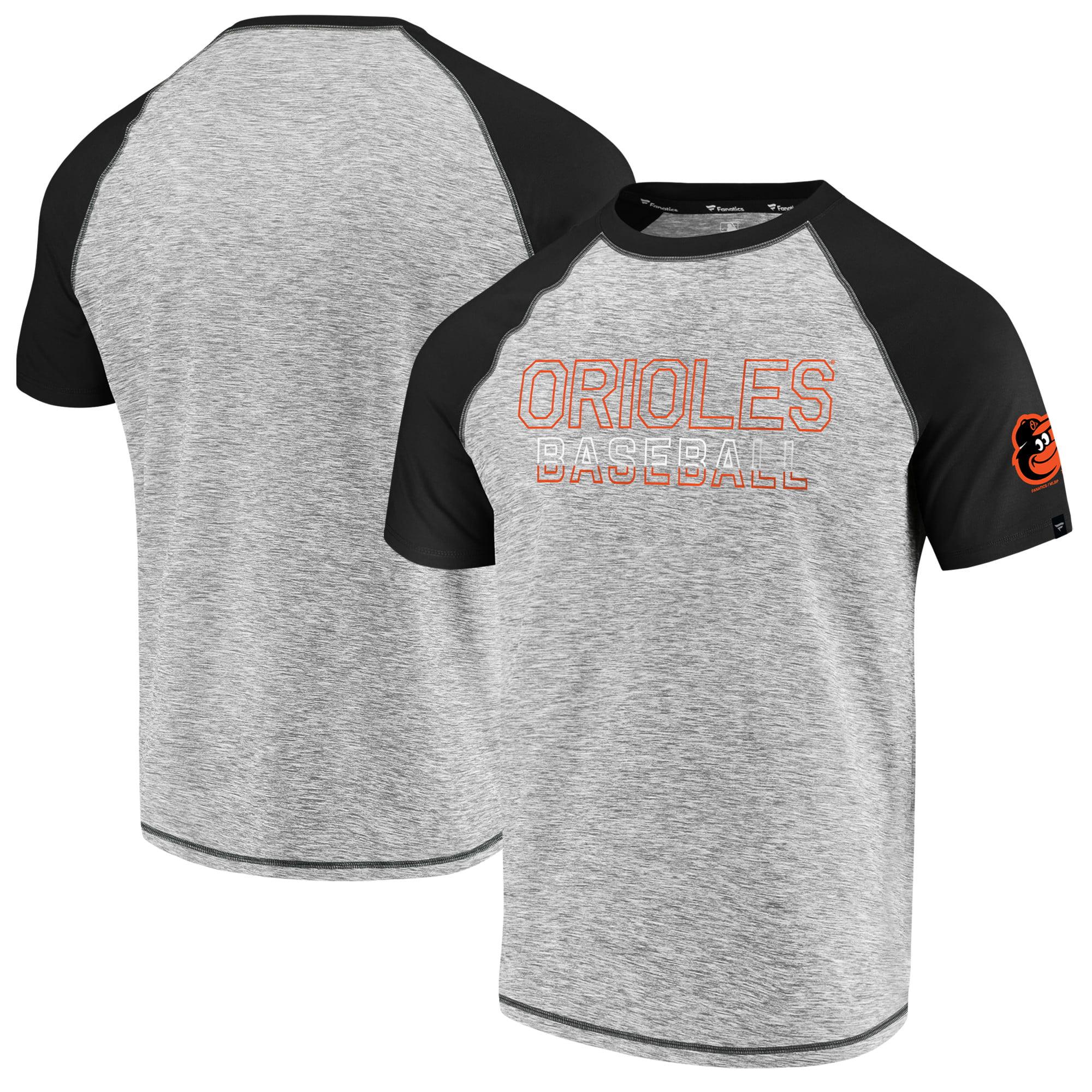 Baltimore Orioles Fanatics Branded Made to Move Raglan T-Shirt - Heathered Gray/Black