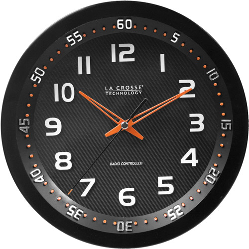 "La Crosse Technology 10"" WWVB Chapter Ring Analog Wall Clock"