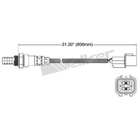 OE Replacement for 2007-2011 Mitsubishi Outlander Center Oxygen Sensor (ES / GT / LS / (Gt Center)