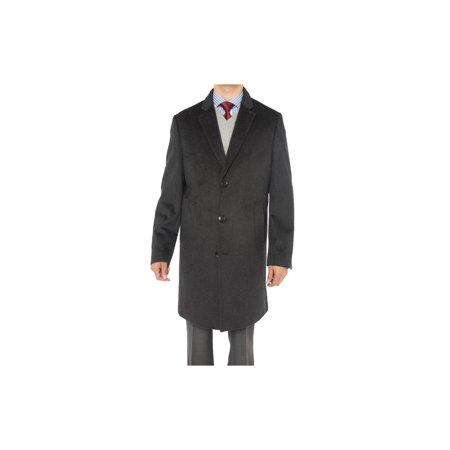 accb3207442e Luciano Natazzi - Luciano Natazzi Men's Cashmere Wool Overcoat Knee Length  Trench Coat Topcoat Charcoal Gray - Walmart.com