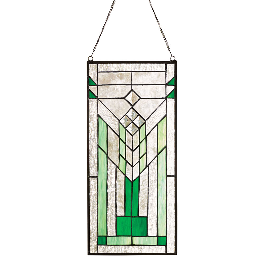 Mission Style Stained Glass Hanging Window Panel Walmartcom