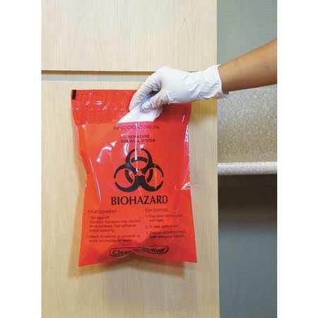 MRWB142316 Biohazard Bag, Red, 1.4 qt., -
