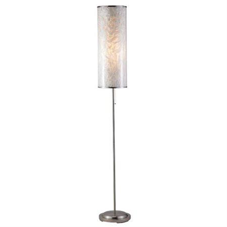 Papyrus Floor Lamp In Satin Steel Finish Walmart Com