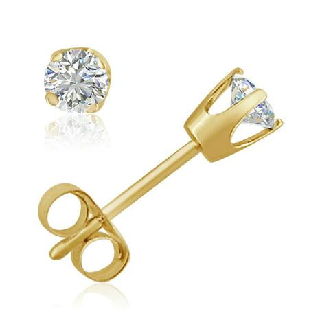Amanda Rose 1 3Ct Tw Diamond Stud Earrings Set In 14K Yellow Gold