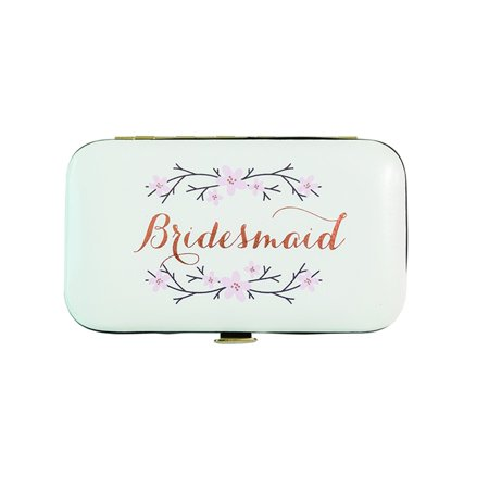 Bridesmaid Cherry Blossom Manicure Kit Travel Set, Cream - Minimergency Kit For Bridesmaids