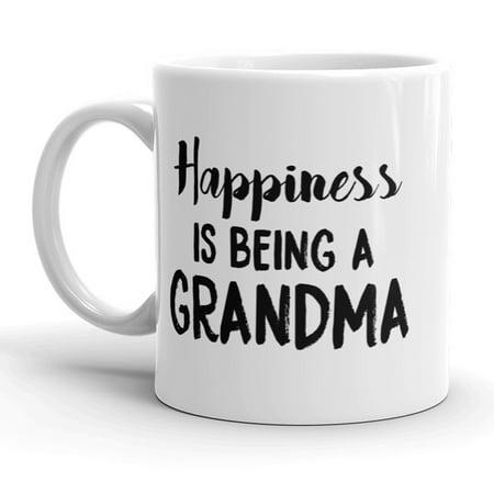 Happiness Is Being A Grandma Mug Cute Grandmother Coffee Cup - 11oz ()