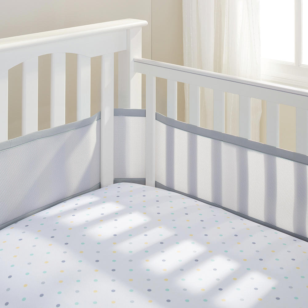 BreathableBaby Breathable Mesh Crib Liner - Gray