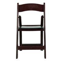 Commercial Seating Products R-101-RM-4 Max Red Mahogany Resin Folding Chair - 30.5 in. - Set of 4