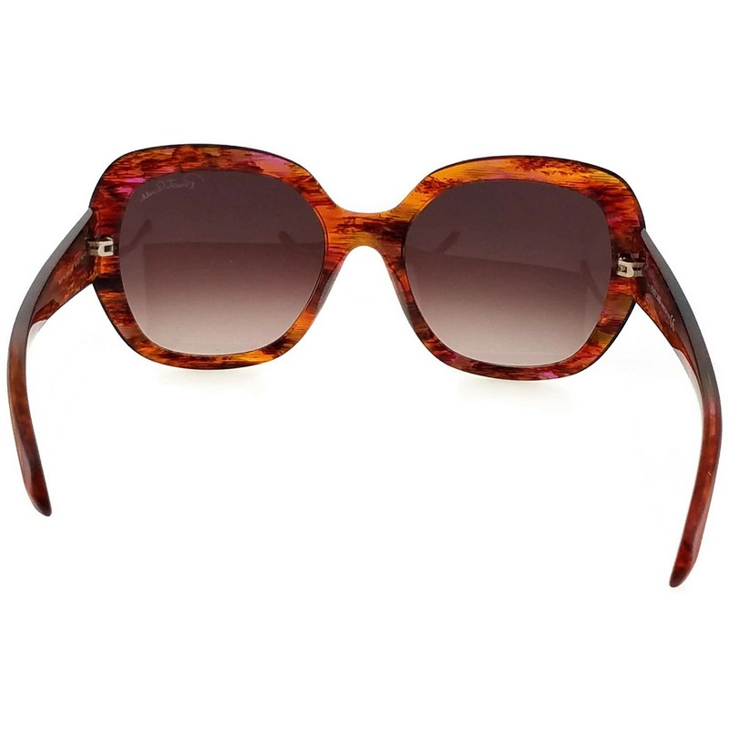 Roberto Cavalli RC989S 44F TSEEN Fuschia//Brown Round Sunglasses for Womens