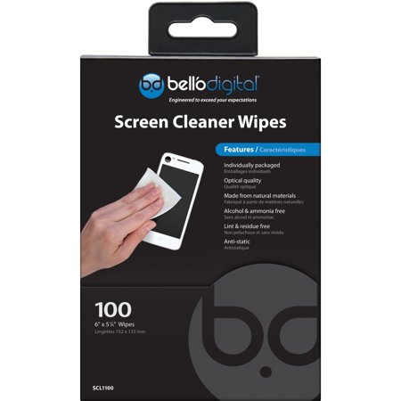 Bell O Screen Cleaner Wipes Ammonia Free Alcohol Free