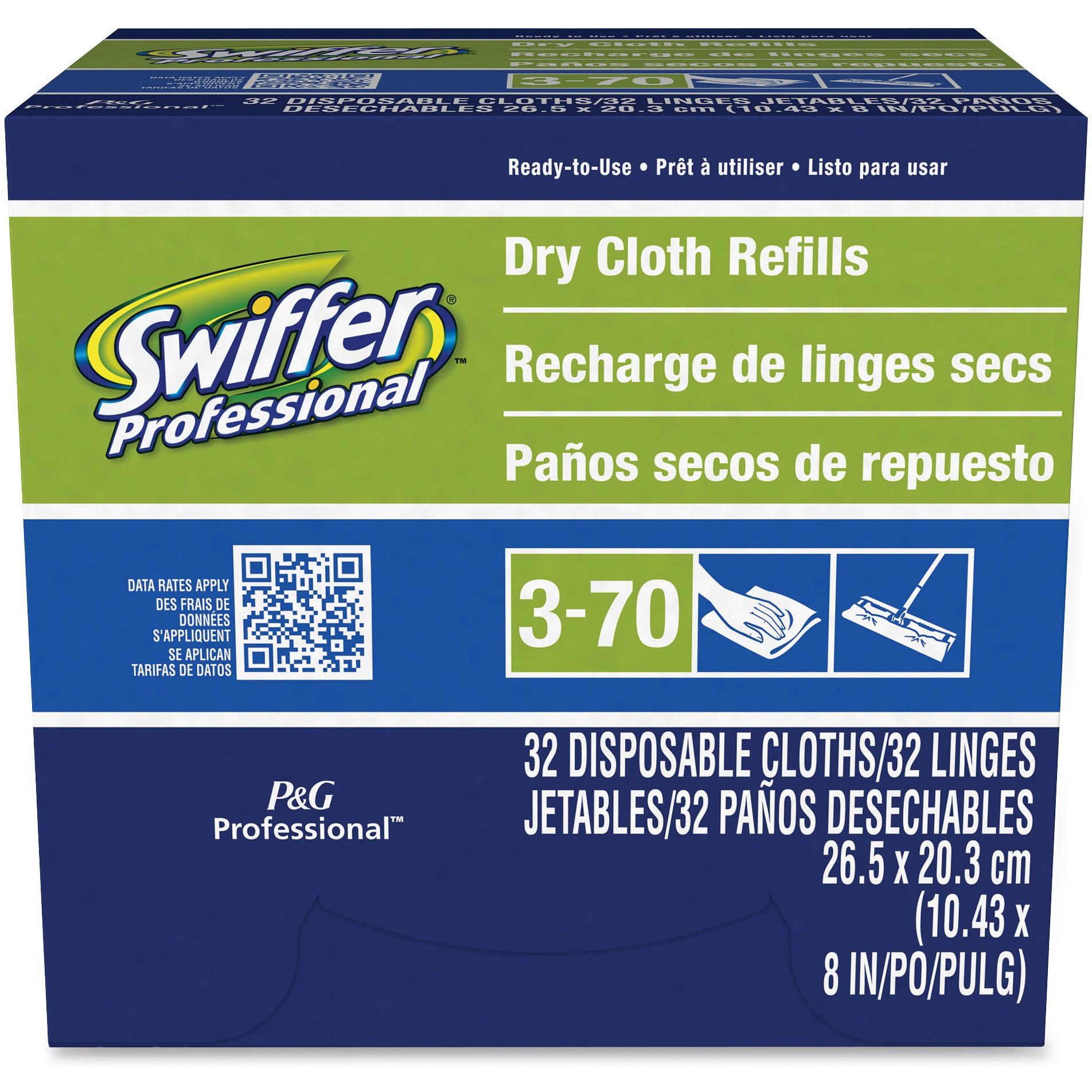 Swiffer, PGC33407, Sweeper Dry Cloths Refill, 32 / Box, White